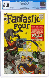 Fantastic Four #2 (Marvel, 1962) CGC FN 6.0 White pages