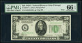 Small Size:Federal Reserve Notes, Fr. 2004-C $10 1934 Light Green Seal Federal Reserve Note. PMG Choice Uncirculated 64;. Fr. 2055-G $20 1934A Mule Federal ... (Total: 2 notes)