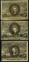 Fr. 1316 50¢ Second Issue New; Fr. 1318 50¢ Second Issue Choice About New; Fr. 1322 50¢ Second Is
