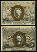 Fr. 1316 50¢ Second Issue About New; Fr. 1322 50¢ Second Issue VF-XF