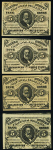 Fractional Currency:Third Issue, Fr. 1236 5¢ Third Issue New (2);. Fr. 1236 5¢ Third Issue New (2).. ... (Total: 4 notes)