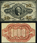 Fr. 1251SP 10¢ Third Issue Narrow Margin Pair Specimens Choice About New