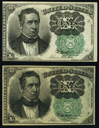 Fr. 1264 10¢ Fifth Issue Two Examples New. ... (Total: 2 notes)
