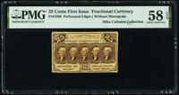 Fr. 1280 25¢ First Issue PMG Choice About Unc 58 EPQ