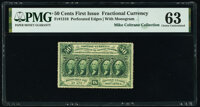 Fr. 1310 50¢ First Issue PMG Choice Uncirculated 63