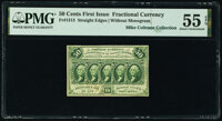 Fr. 1313 50¢ First Issue PMG About Uncirculated 55 EPQ
