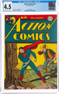 Action Comics #94 (DC, 1946) CGC VG+ 4.5 Off-white to white pages