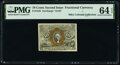 Fractional Currency:Second Issue, Fr. 1245 10¢ Second Issue PMG Choice Uncirculated 64 EPQ.. ...