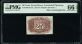 Fractional Currency:Second Issue, Fr. 1283SP 25¢ Second Issue Narrow Margin Back PMG Gem Uncirculated 66 EPQ.. ...