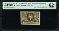 Fr. 1317 50¢ Second Issue PMG Uncirculated 62 EPQ