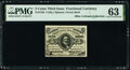 Fractional Currency:Third Issue, Fr. 1238 5¢ Third Issue PMG Choice Uncirculated 63.. ...