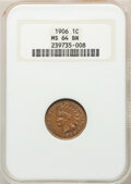 Indian Cents, 1906 1C MS64 Brown NGC. NGC Census: (235/82). PCGS Population: (266/28). CDN: $60 Whsle. Bid for NGC/PCGS MS64. Mintage 96,...