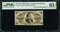 Fractional Currency:Third Issue, Fr. 1291 25¢ Third Issue PMG Choice Uncirculated 63 EPQ.. ...