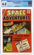 Silver Age (1956-1969):Science Fiction, Space Adventures #33 (Charlton, 1960) CGC VG 4.0 Cream to off-white pages....