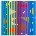 Prints & Multiples, Yaacov Agam (b. 1928). Untitled, from Solfege, Transformation, Fusion, 1971. Screenprint in colors on paper. 22-1/4 ...