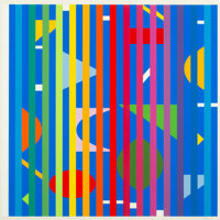Yaacov Agam (b. 1928) Untitled, from Solfege, Transformation, Fusion, 1971 Screenprint in colors on paper 22-1/4