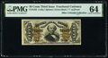 Fractional Currency:Third Issue, Fr. 1333 50¢ Third Issue Spinner PMG Choice Uncirculated 64.. ...