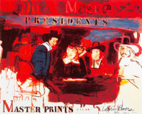 Larry Rivers (1923-2002) Dutch Masters (Presidents), 1990 Offset lithograph in colors on paper 31