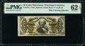 Fractional Currency:Third Issue, Fr. 1334 50¢ Third Issue Spinner PMG Uncirculated 62 EPQ.. ...