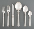 Silver & Vertu, A Sixteen-Piece William Spratling Silver Partial Flatware Service, Taxco, Mexico, mid-20th century. Marks to longest: WS, ... (Total: 16 )