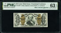 Fractional Currency:Third Issue, Fr. 1342 50¢ Third Issue Spinner Type II PMG Choice Uncirculated 63 EPQ.. ...