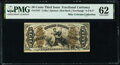Fractional Currency:Third Issue, Fr. 1347 50¢ Third Issue Justice PMG Uncirculated 62.. ...