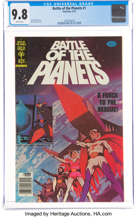 Battle of the Planets #1 (Gold Key, 1979) CGC NM/MT 9.8 White pages....