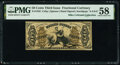 Fractional Currency:Third Issue, Fr. 1356 50¢ Third Issue Justice PMG Choice About Unc 58.. ...