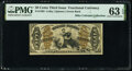 Fractional Currency:Third Issue, Fr. 1362 50¢ Third Issue Justice PMG Choice Uncirculated 63 EPQ.. ...