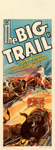 Movie Posters:Western, The Big Trail (Fox, 1930). Fine+ on Linen. Austral...