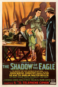 """The Shadow of the Eagle (Mascot, 1932). Fine/Very Fine on Linen. One Sheet (27"""" X 41"""") Chapter 5 -- """"The..."""