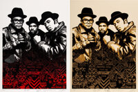 Shepard Fairey (b. 1970) Run DMC Raising Hell (set of 2), 2020 Screenprints in colors on speckled wh