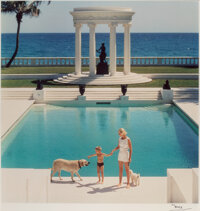 Slim Aarons (American, 1916-2006) The Good Life: C.Z. Guest and her son Alexander at Villa Artemis, Palm Beach<...