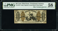 Fr. 1370 50¢ Third Issue Justice PMG Choice About Unc 58