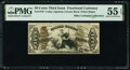 Fractional Currency:Third Issue, Fr. 1370 50¢ Third Issue Justice PMG About Uncirculated 55 EPQ.. ...