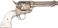 Factory Engraved Colt Single Action Army Revolver with Colt Letter