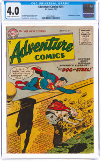 Adventure Comics #214 (DC, 1955) CGC VG 4.0 Cream to off-white pages