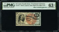 Fractional Currency:Fourth Issue, Fr. 1271 15¢ Fourth Issue PMG Choice Uncirculated 63 EPQ.. ...