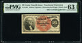 Fractional Currency:Fourth Issue, Fr. 1301 25¢ Fourth Issue PMG Choice Uncirculated 63 EPQ.. ...
