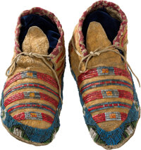 Sioux Beaded Moccasins, c. 1880