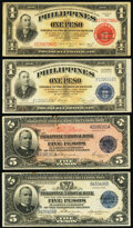 Philippines - Selection of BEP-Printed Notes. Uncertified. Fine or Better. Philippine National Bank 5 Pesos 1916 Pick...