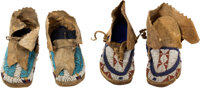 Two Pairs of Northern Plains Children's Moccasins, c. 1880