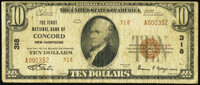Concord, NH - $10 1929 Ty. 2 The First National Bank Ch. # 318 Fine
