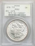 1878 7TF $1 Reverse of 1879 MS62 PCGS. PCGS Population: (1638/4809). NGC Census: (1314/3176). CDN: $245 Whsle. Bid for N...