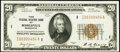 Small Size:Federal Reserve Bank Notes, Fr. 1870-I $20 1929 Federal Reserve Bank Note. Choice Crisp Uncirculated.. ...