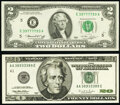 Small Size:Federal Reserve Notes, Fancy Numbered Notes. . ... (Total: 2 notes)