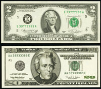 Fancy Numbered Notes. ... (Total: 2 notes)