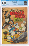 Golden Age (1938-1955):Cartoon Character, Four Color #159 Donald Duck (Dell, 1947) CGC FN 6.0 Off-white pages....