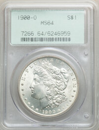 1900-O $1 MS64 PCGS. PCGS Population: (20993/8788). NGC Census: (22625/8589). CDN: $78 Whsle. Bid for NGC/PCGS MS64. Min...