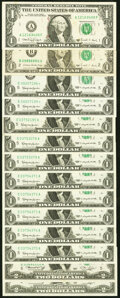 Miscellaneous $1 and $2 Federal Reserve Notes. Fr. 1900-E $1 1963 About Uncirculated or Better (8); Fr. 1900-E* $1 1...